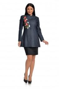 Trenci din denim Dress To Impress T02D Bleumarin