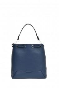 Geanta Shopper Carolina di Rosa CR0443Blu_Jeans Albastru