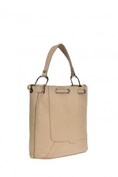Geanta Shopper Carolina di Rosa CR0443Fango Gri-bej