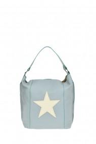 Geanta Shopper Carolina di Rosa CR0478Celeste Albastru