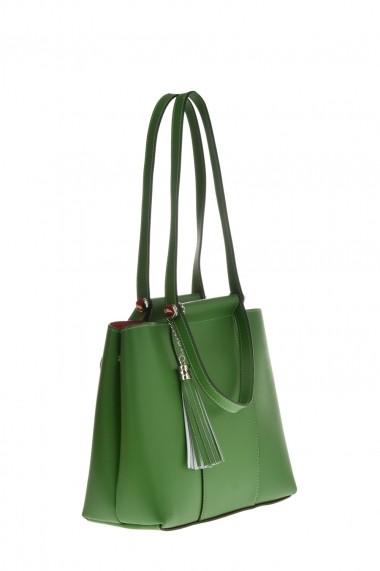 Geanta Tote Carolina di Rosa CR6451Verde Verde