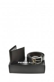 Set portofel si curea Pierro Poggi PP3001-120 Negru