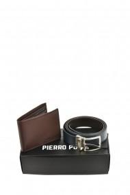 Set portofel si curea Pierro Poggi PP3003-115 Maro