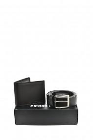Set portofel si curea Pierro Poggi PP3004-120 Negru