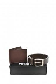 Set portofel si curea Pierro Poggi PP3005-120 Maro