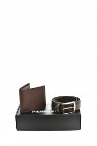 Set portofel si curea Pierro Poggi PP3007-120 Maro