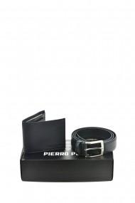 Set portofel si curea Pierro Poggi PP3009-120 Albastru