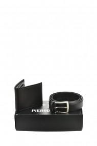 Set portofel si curea Pierro Poggi PP3010-115 Negru