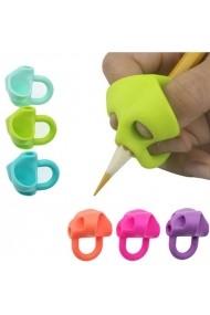 Set 3 bucati suport din silicon ajutator pentru creion sau pix pentru fete