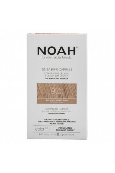 Vopsea de par permanenta 9.0 Blond foarte deschis Noah 140 ml