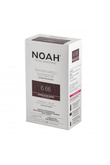 Vopsea de par permanenta 6.66 Blond roscat inchis Noah 140 ml