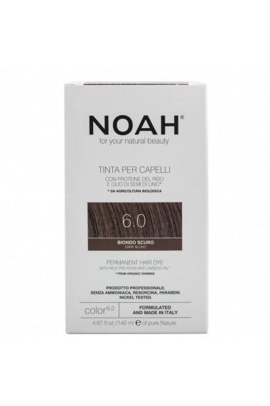 Vopsea de par permanenta 6.0 Blond inchis Noah 140 ml