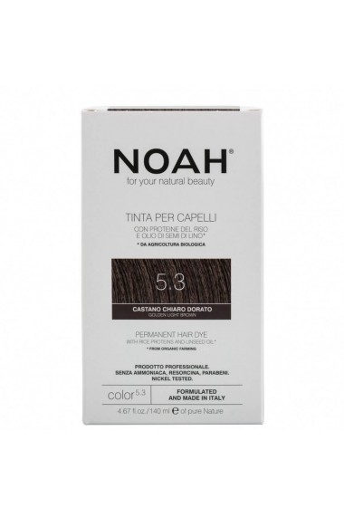 Vopsea de par permanenta 5.3 Saten auriu deschis Noah 140 ml