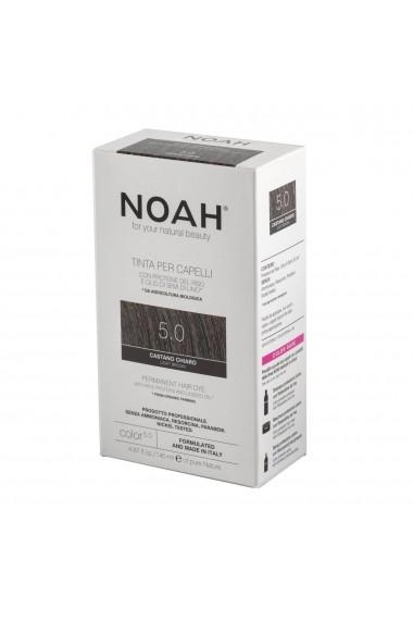 Vopsea de par permanenta 5.0 Saten deschis Noah 140 ml