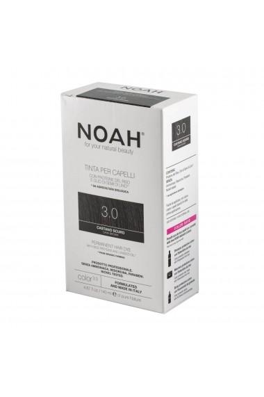 Vopsea de par permanenta 3.0 Saten inchis Noah 140 ml