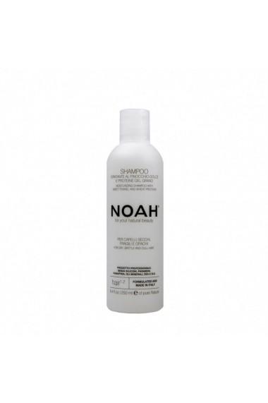 Sampon natural hidratant pentru par uscat fragil si lipsit de stralucire (1.2) Noah 250 ml