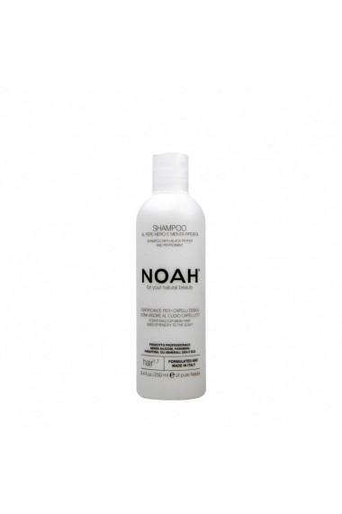 Sampon fortifiant cu piper negru si menta pentru par slabit si deteriorat (1.7) Noah 250 ml