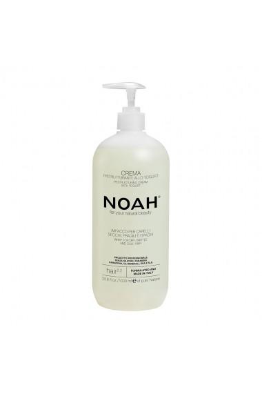 Balsam crema restructurant cu iaurt pentru par uscat  fragil si lipsit de stralucire (2.2)  Noah  1000 ml