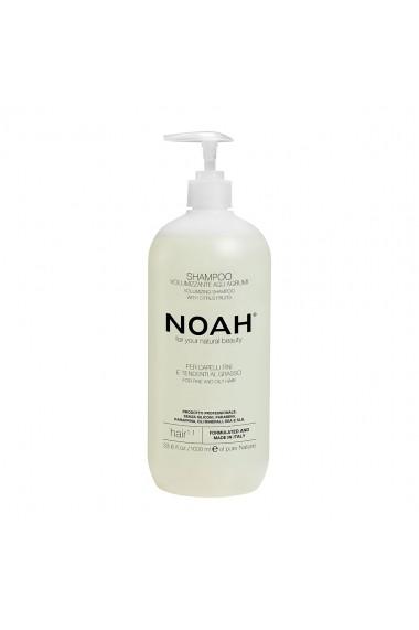 Sampon natural volumizant cu citrice pentru par fin si gras (1.1)  Noah  1000 ml