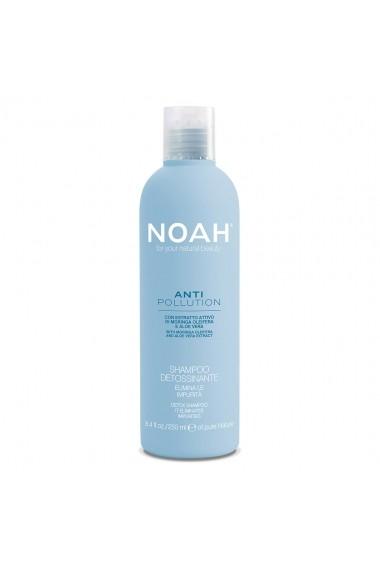 Sampon detoxifiant cu moringa si aloe vera - Anti Pollution  Noah  250 ml