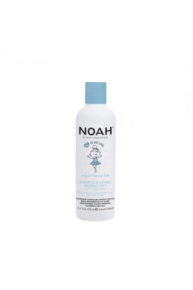 Sampon & balsam 2 in 1 cu lapte & zahar pentru copii   Noah  250 ml
