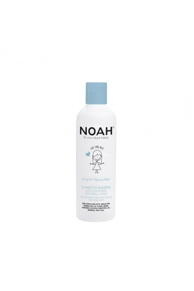Sampon pentru copii cu lapte & zahar pentru par lung  Noah  250 ml