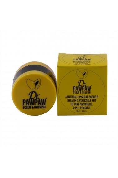 Exfoliant & Balsam pentru buze 16ml Dr PawPaw