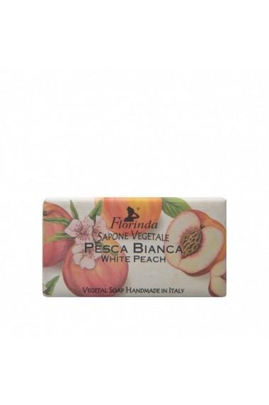 Sapun vegetal cu piersici albe Florinda La Dispensa 100g