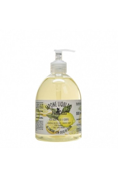 Sapun lichid vegetal hidratant cu lamaie si ulei de masline Florinda 500 ml La Dispensa