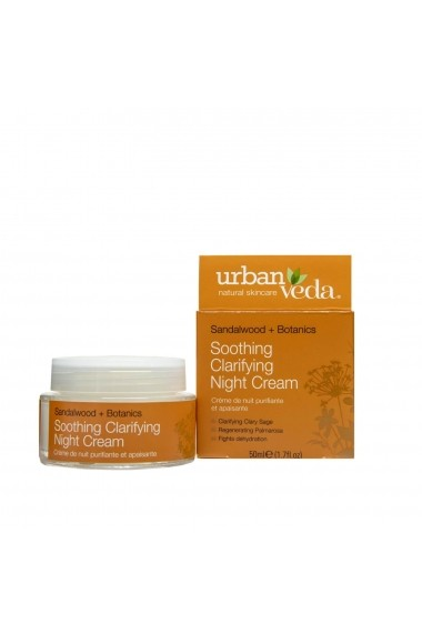 Crema hidratanta de noapte ten sensibil Soothing Urban Veda 50 ml