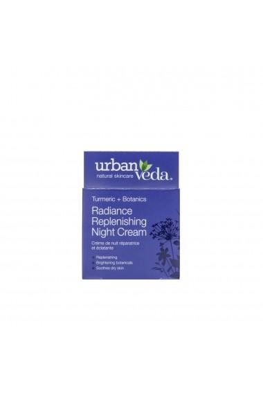 Crema puternic hidratanta de noapte cu extract de turmeric ten uscat Radiance Urban Veda 50 ml