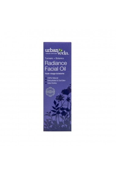 Ulei facial pentru ten uscat Radiance Urban Veda 30 ml