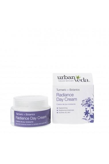 Crema de zi nutritiva cu extract de turmeric organic ten uscat Radiance Urban Veda 50 ml
