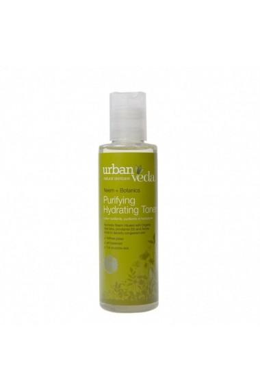 Lotiune tonica organica hidratanta cu extract de neem pentru ten gras Purifying Urban Veda 150 ml