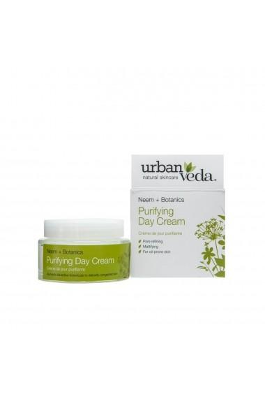 Crema de zi matifianta cu extract de neem organic ten gras Purifying Urban Veda 50 ml