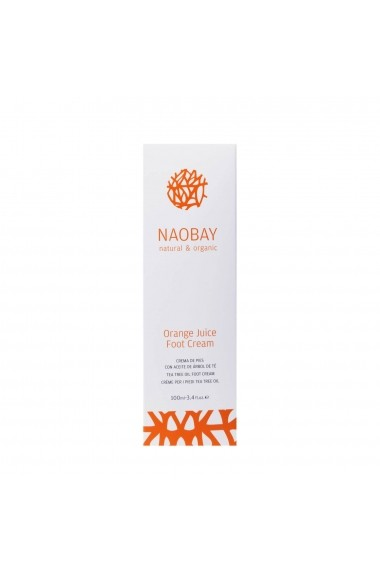 Crema hidratanta BIO pentru picioare cu extracte de unt de Shea si portocale Orange Juice Naobay 100 ml