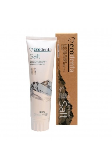 Pasta de dinti pentru dinti si gingii sensibile cu sare naturala Cosmos Organic Ecodenta 100ml