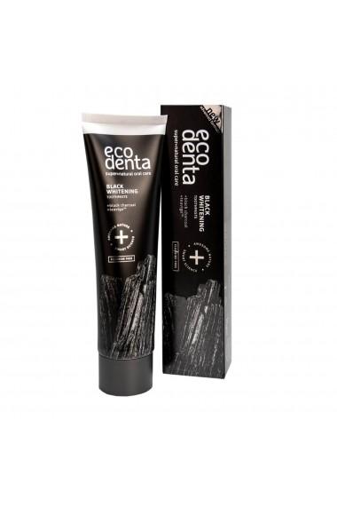 Pasta de dinti pentru albire Extra Black cu carbune si Teavigo Extra Ecodenta 100ml
