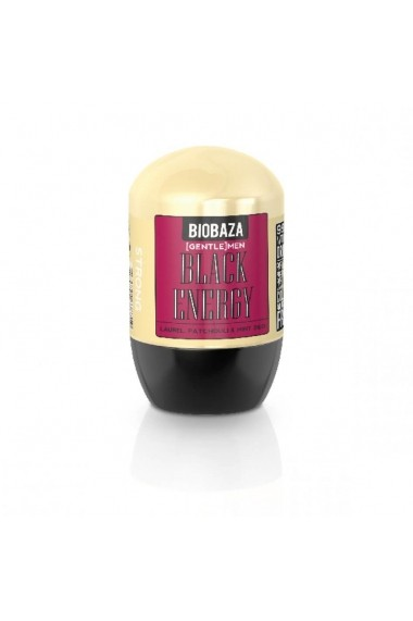Deodorant natural barbati BLACK ENERGY (dafin si patchouli)  Biobaza  50 ml