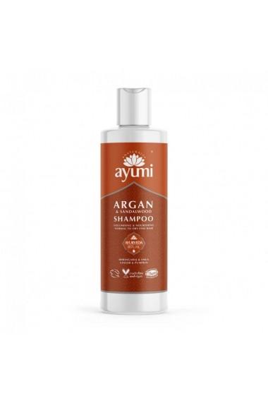 Sampon cu Ulei de Argan & Lemn de Santal pentru parul fragil si subtire  Ayumi  250 ml