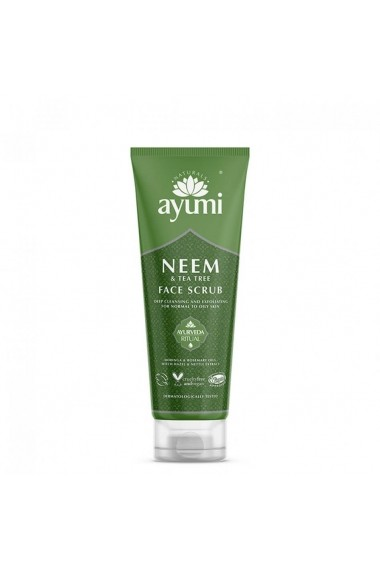 Exfoliant facial cu Neem & Tea Tree  Ayumi  125 ml