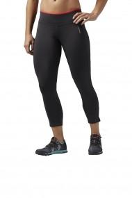 Pantaloni sport femei Reebok Wor PP 3/4 CAP Gri