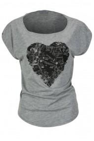 Tricou Vans Heart Gri