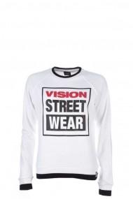 Bluza femei Vision Street Wear Raglan Crew Logo Alb