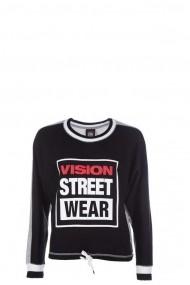 Bluza femei Vision Street Wear Batwing Negru/Gri