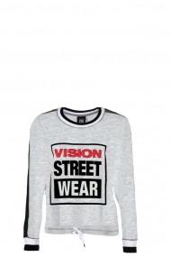 Bluza femei Vision Street Wear Batwing Gri /Negru