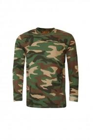 Bluza Game Tehnical Apparel LS Tshirt Woodland Verde