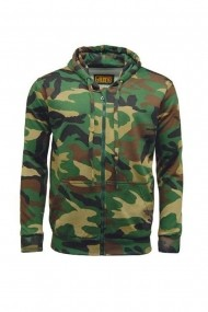 Jacheta sport barbati Game Technical Apparel Zip Hoodie Woodland Verde