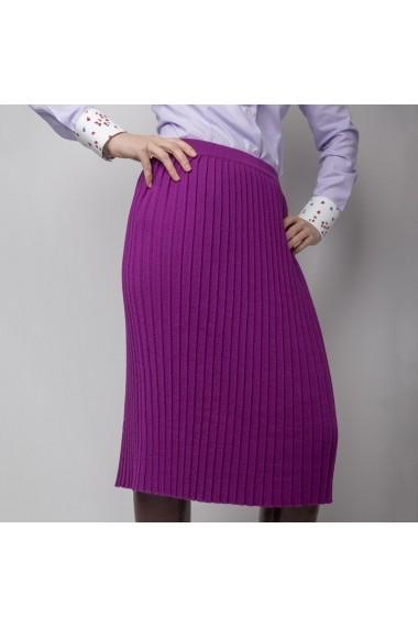 Fusta ALISIA ENCO plisata din lana mov