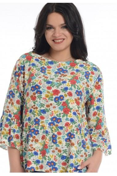 Bluza peplum Eranthe V136 Multicolor